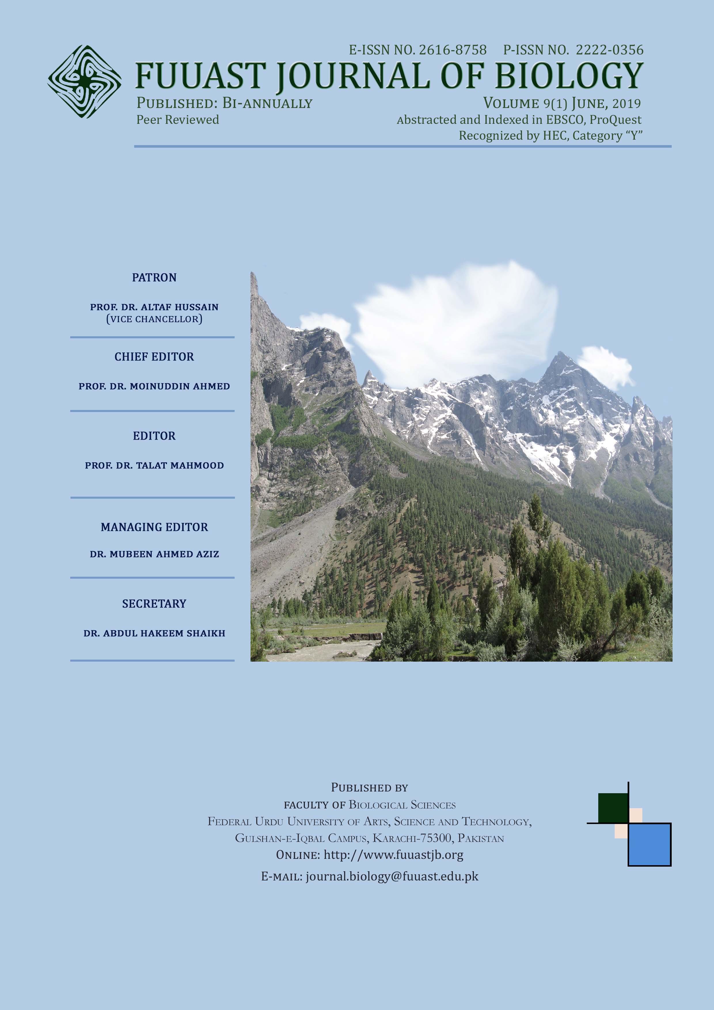 View Vol. 9 No. 1 (2019): Volume 9(1) June, 2019